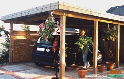 Freistehend carport burg joda erfurtholz for Joda carport