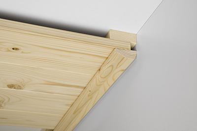leisten zubeh r abschlussleiste f r deckenpaneele mit massivholzkern erfurtholz. Black Bedroom Furniture Sets. Home Design Ideas