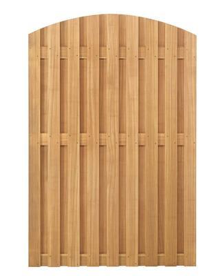 sichtschutzelemente hartholzzaun bangkirai mit bogen schmal erfurtholz. Black Bedroom Furniture Sets. Home Design Ideas