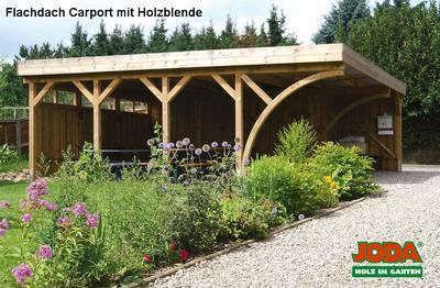 Freistehend carport bergen erfurtholz for Joda carport