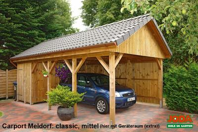 satteldachcarport mit 30 neigung carport meldorf. Black Bedroom Furniture Sets. Home Design Ideas