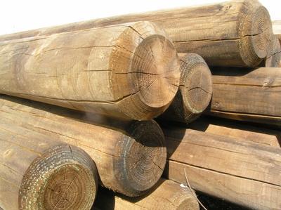 palisaden palisade 12 cm 4 m lang erfurtholz. Black Bedroom Furniture Sets. Home Design Ideas