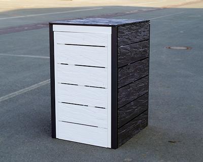 aktionsartikel m lltonnenbox aus gehacktem holz erfurtholz. Black Bedroom Furniture Sets. Home Design Ideas