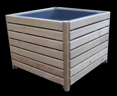 hochbeete und pflanzk sten pflanzkasten sibirische l rche quadratisch erfurtholz. Black Bedroom Furniture Sets. Home Design Ideas
