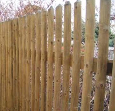 Latten Riegel Pfosten Fur Gartenzaune Halbrunde Zaunlatten 1